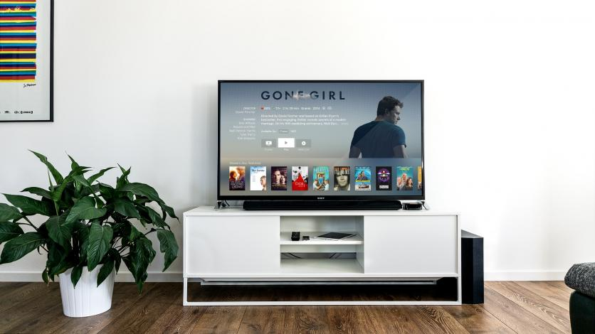 TV with movies on screen