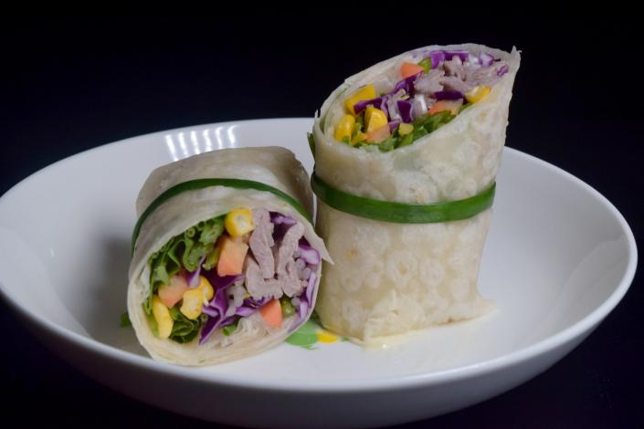 Sandwich wrap on plate