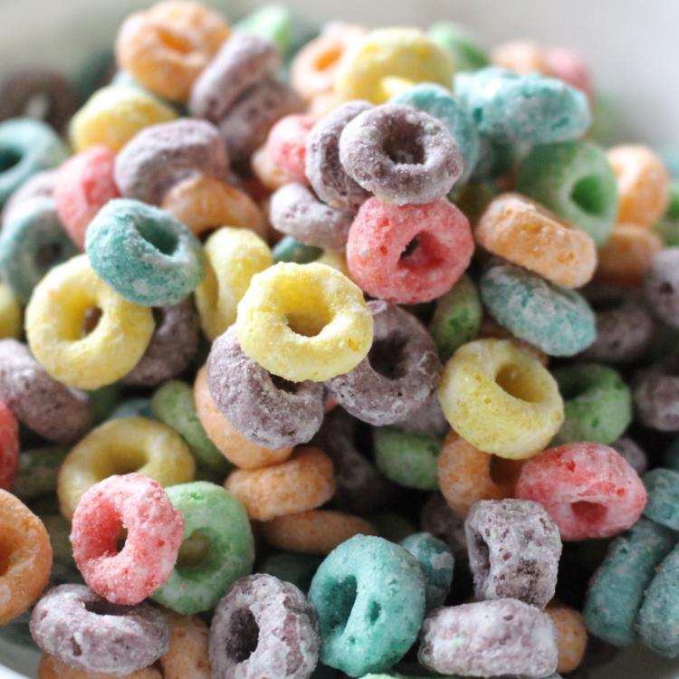 Bowl of fruit loops